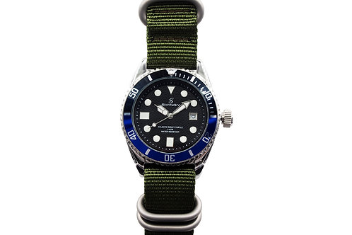 Atlantic Ridley Turtle Wrist watch Green Nylon Strap Version