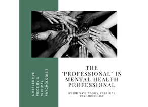 The 'Professional' in Mental Health Professional