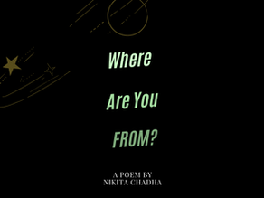 Racism and Mental Heath : Poem, 'Where Are You From?'