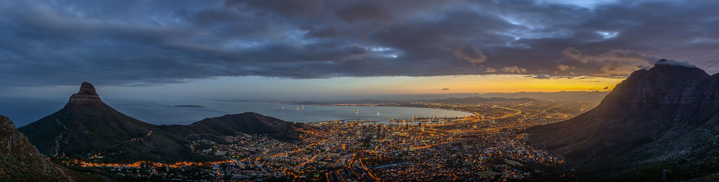 Cape Town city bowl panorama
