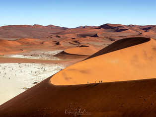 Deadvlei from on top the big daddy dune