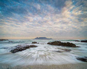 Table Mountain long exposure waves