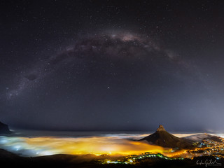 Milky way over Cape Town