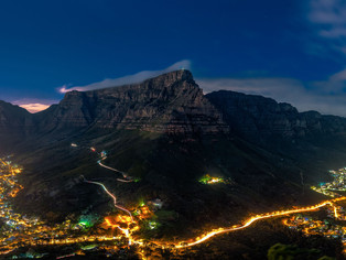 Cape Town at night taken from Lion's Head
