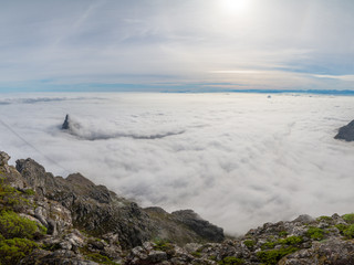 Low fog over Cape Town