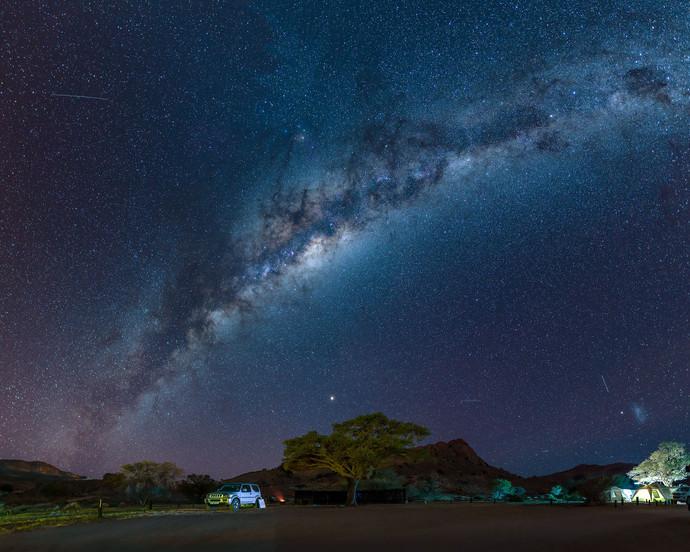 Milky Way over campsite