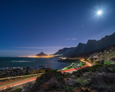 Moon over Camps Bay