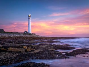 Slangkop lighthouse sunset