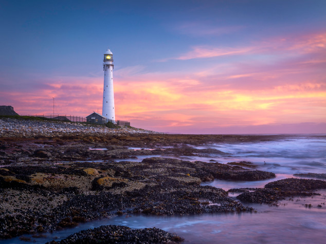 Slangkop lighthouse sunset