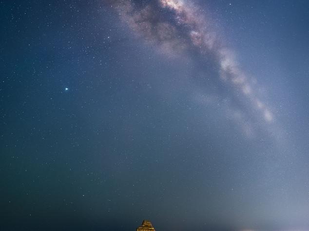 Milky way over Lion's Head