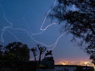 Rhodes memorial lightning