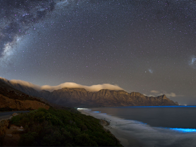 Milky Way and bioluminescence near Kogelbay