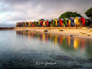 St James beach huts