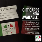 Gift Cards are here!!!