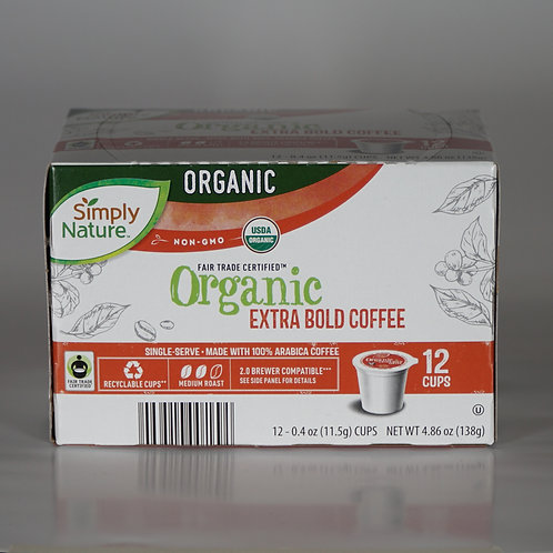 Organic extra bold coffee k-cups