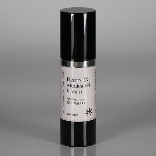 Hemp RX Medicated Cream, Full Spectrum 1000 mg CBD – 1 fl oz (30ml)