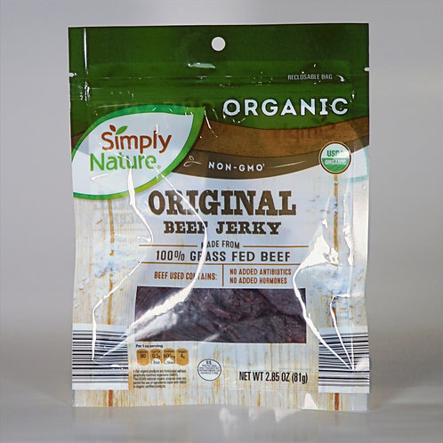 Organic original beef jerky