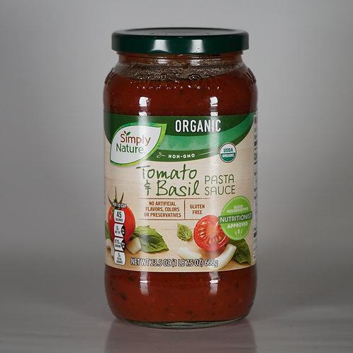 OrganicTomato-basil pasta sauce