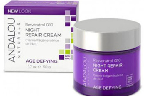 Andalou Naturals Age Defying Resveratrol Q10 Night Repair Cream (50g)