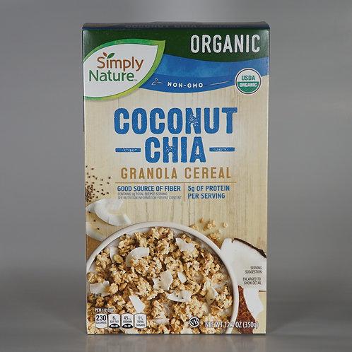 Organic Coconut chia granola cereal