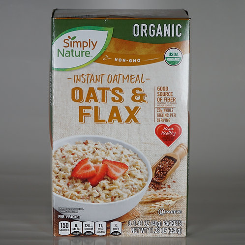 Organic Instant Oatmeal -Oats and Flax