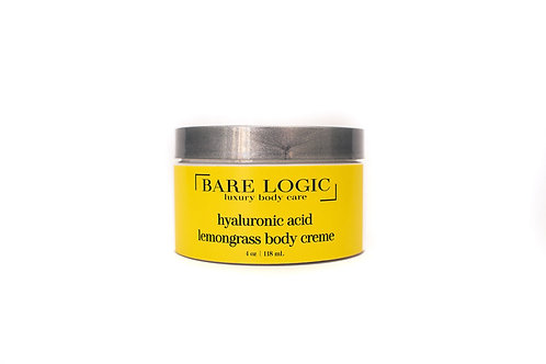 Lemongrass Hyaluronic Body Creme, 4oz