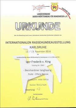 Urkunde Karlsruhe