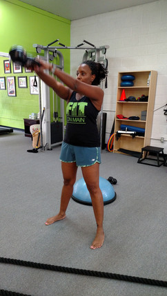 Working on that kettlebell swing!
