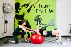 With stability ball exercises, we can combine core and balance work with strengthening and conditioning.