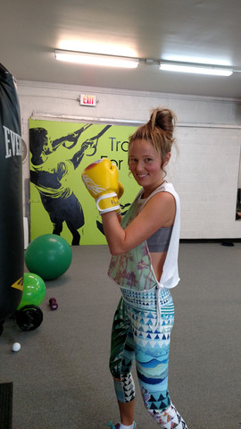 Fun with boxing gloves!