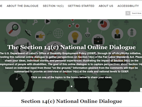 Section 14(c) National Online Dialogue