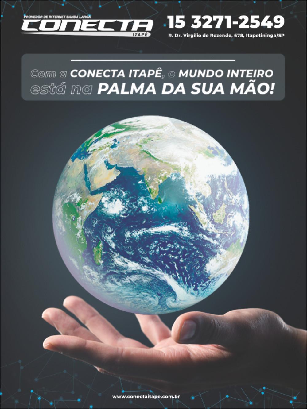 Conecta Itapê em anúncio na Revista Top da Cidade, edição 54, em Itapetininga