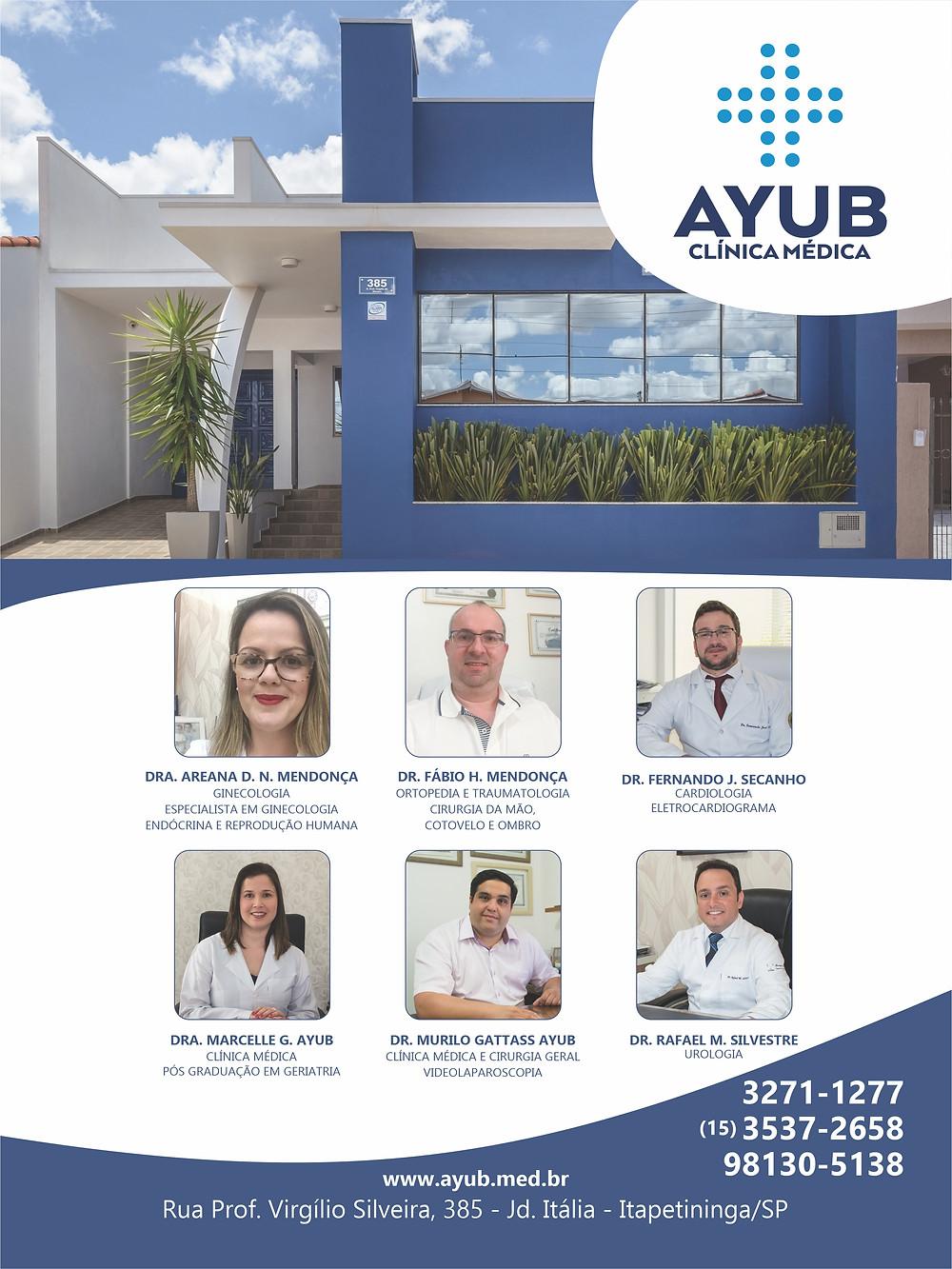 Anúncio da Clínica Médica Ayub na Revista Top da Cidade, edição 54, em Itapetininga