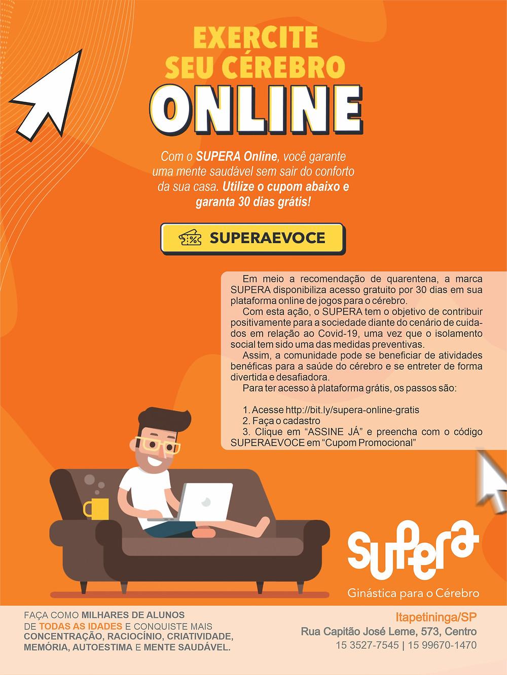 Anúncio da Rede Supera, com unidade em Itapetininga, para a Revista Top da Cidade, edição 54