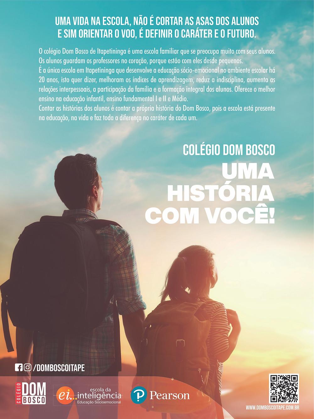 Anúncio do colégio Dom Bosco, de Itapetininga, na Revista Top da Cidade, edição 54