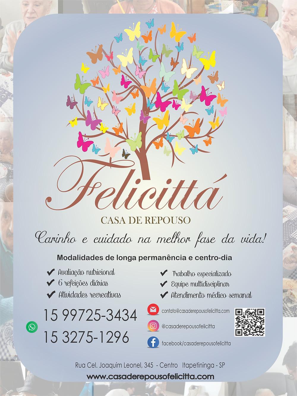Anúncio da Casa de Repouso Felicittá na Revista Top da Cidade, edição 54, em Itapetininga