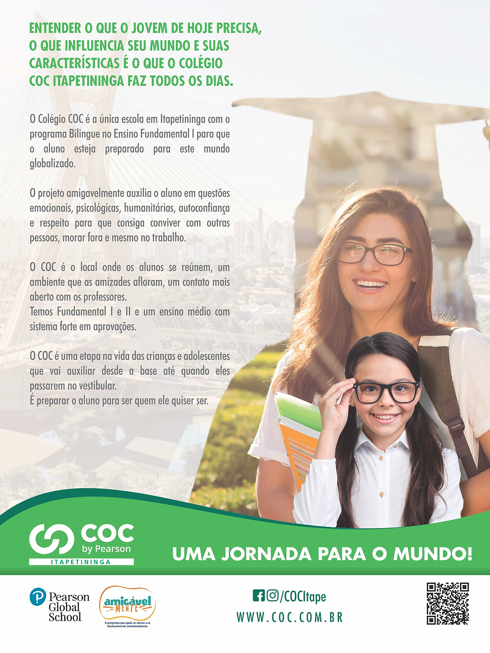 COC Itapetininga Uma jornada para o mundo Anúncio Revista Top da Cidade Edição 54