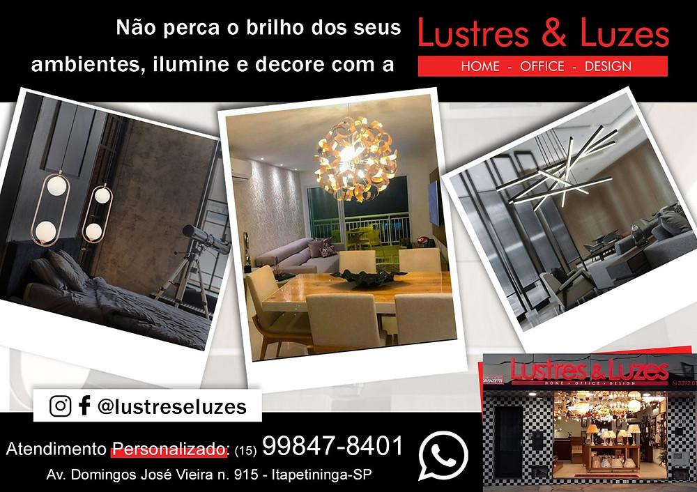 Anúncio de Lustres & Luzes em Itapetininga, para a Revista Top da Cidade, Edição 54