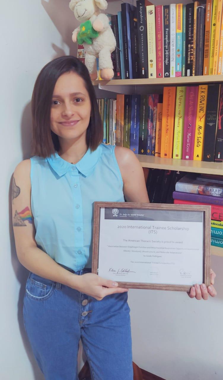 Gisele Rodrigues, itapetiningana, ganhadora do prêmio ITS, estudante do SESI Itapetininga.