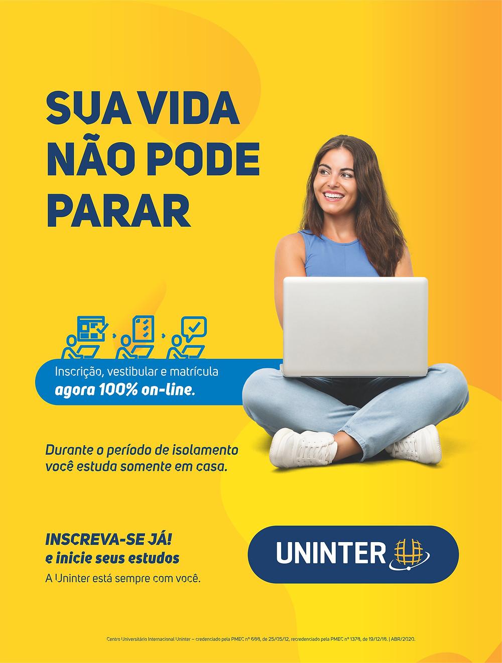 Anúncio da Uninter na Revista Top da Cidade, Edição 54, Itapetininga