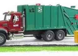 BR1:16 MACK Granite Garbage Truck (RubyRed-Green)