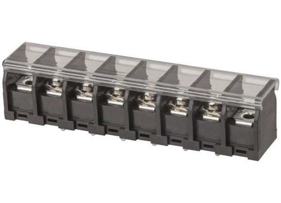 TERMINAL BARRIER PCB W/COVER 6WAY