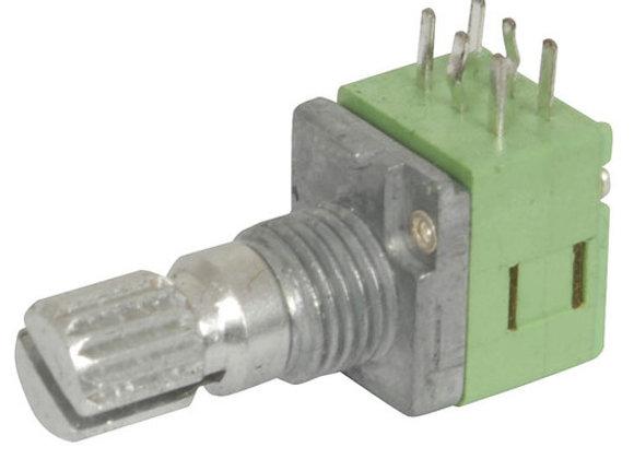 POT PCB LIN DG 9MM B10K MET SPLINE/18TH