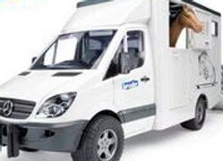 BR1:16 MB Sprinter Animal Transporter incl 1 Horse