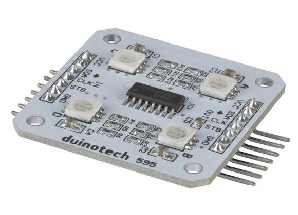 MODULE LED RGB 4 X 5050 SMD ARDUINO COMP