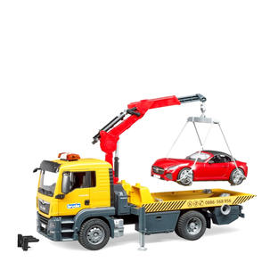 Singleton Hi-fi Hunter Valley Bruder toys yellow crane tow truck lifting red car