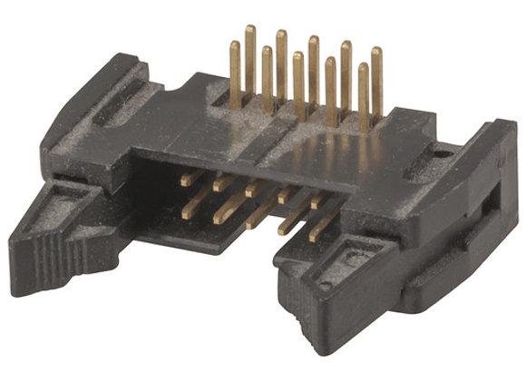 HEADER IDC PCB R/A LOCK 10WAY