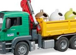 BR 1:16 MAN TGS with 3 Glass Recycling Containers & bottles