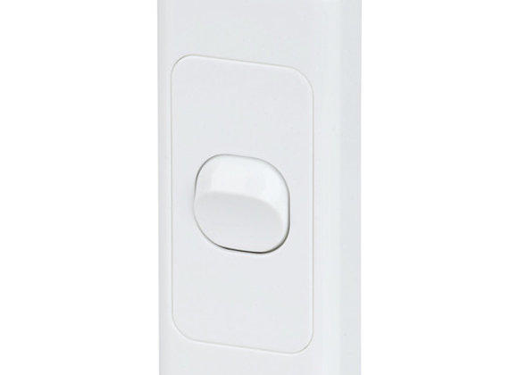 SWITCH MAINS ARCHITRAVE SINGLE 10A WHT