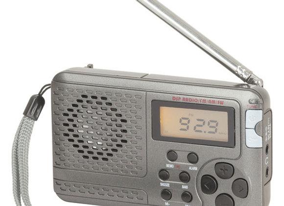 RADIO AM/FM/SW LCD ALARM 3AAA